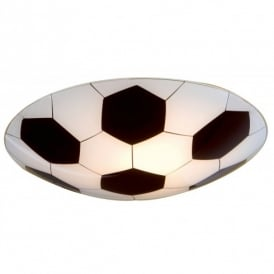 87284 Junior 1 Flush Football Design Wall or Ceiling Fitting
