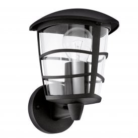 93097 Aloria Single Light Outdoor Wall Fitting In Black Finish