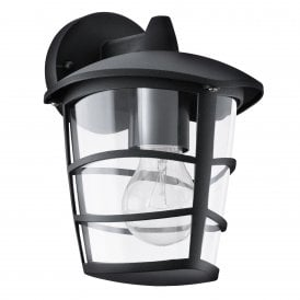 93098 Aloria Single Light Outdoor Hanging Wall Fitting In Black Finish