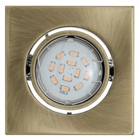 93244 Igoa Single Light 5w LED Recessed Ceiling Fitting In Bronze Finish