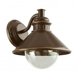 96262 Albacete Single Light Wall Fitting In Antique Copper Finish
