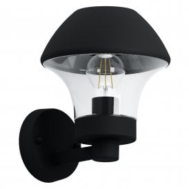 97244 Verlucca Single Light Outdoor Wall Fitting in Black Finish
