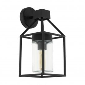 97296 Trecate Single Light Wall Fitting In Black Finish