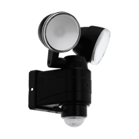 98189 Casabas 2 Light LED Battery Operated Outdoor Spotlight In Black Finish With PIR Sensor