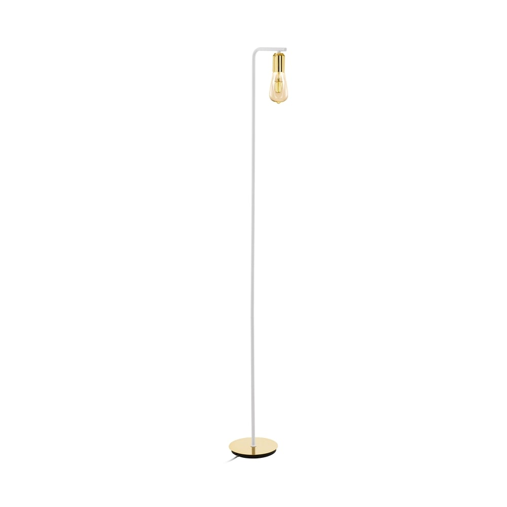 Adri 2 single light floor lamp in gold finish