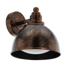 Airola Single Light Wall Fitting In Antique Copper Finish