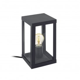 'Alamonte 1' Single Light Outdoor Table Lamp In Black Finish