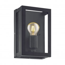 Alamonte 1 Single Light Outdoor Wall Fitting In Black Finish