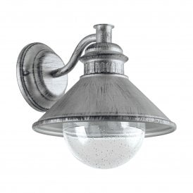 Albacete Single Light Wall Fitting In Antique Silver Finish