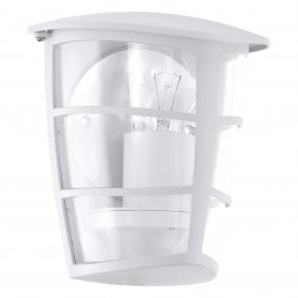 Aloria Single Light Outdoor Flush Wall Fitting In White Finish
