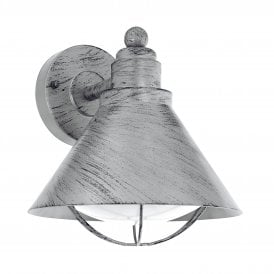 Barrosela Single Light Wall Fitting In Antique Silver Finish