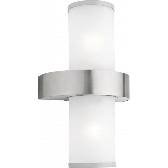 Eglo lighting beverly outdoor 2 light wall light in satin silver beverly outdoor 2 light wall light in satin silver finish aloadofball Images