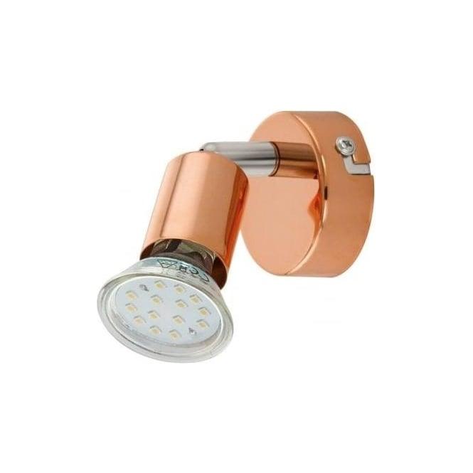 Eglo lighting buzz copper led single light wall spot light fitting buzz copper led single light wall spot light fitting in copper finish aloadofball Choice Image