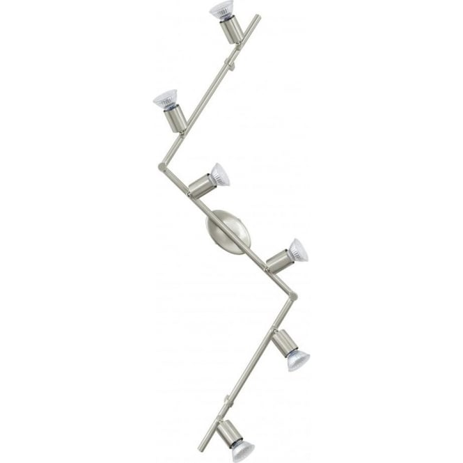 Eglo Lighting Buzz-LED 6 Light Zig-Zag Wall or Ceiling Spotlight ...