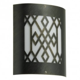 City Black Gold Outdoor Low Energy Wall Light (Bulb Is Included)