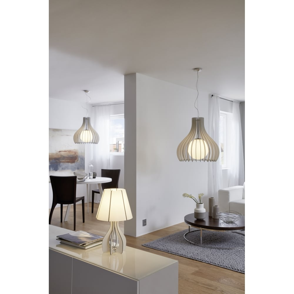Cossano Single Light Table Lamp In White Finish