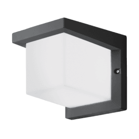 Desella 1 LED Outdoor Wall Fitting In Anthracite And White Finish