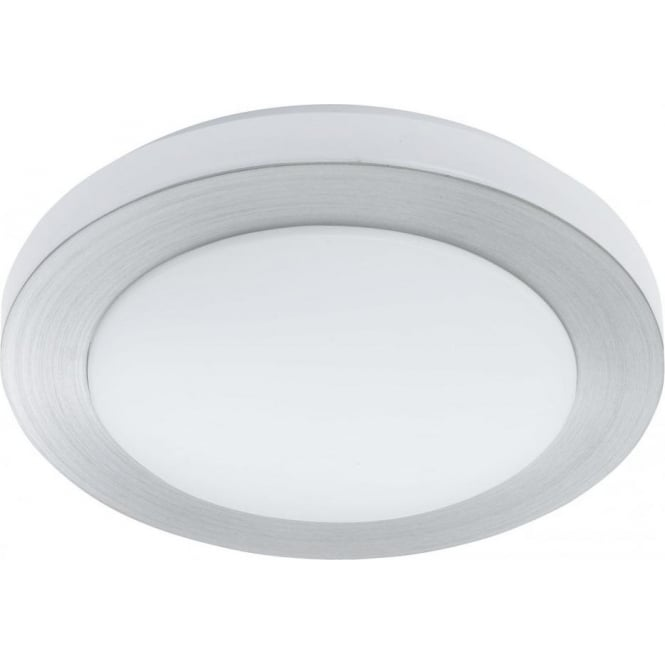 Led Carpi Large Circular Wall And Ceiling Fitting In Brushed Aluminium
