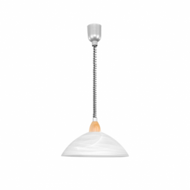 Lord 2 Single Light Rise And Fall Matt Nickel/Beech Pendant