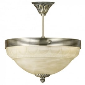 Marbella 3 Light Semi Flush Ceiling Fitting In Antique Bronze Finish