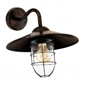 Melgoa Single Light Wall Fitting In Antique Copper Finish