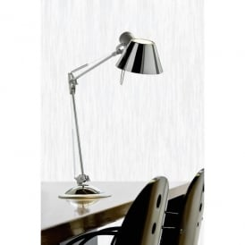 Office Single Light Adjustable Table Lamp In Polished Chrome Finish