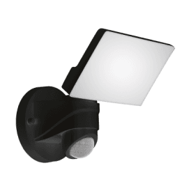 Pagino LED Outdoor Spotlight In Black Finish With PIR Sensor