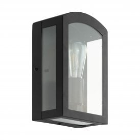 Paretta Single Light Outdoor Wall Fitting In Black Finish