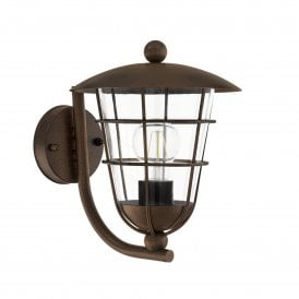 Pulfero 1 Single Light Wall Fitting In Brown Finish