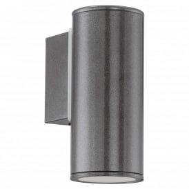 Riga Single light LED Outdoor Wall Fitting In Anthracite Finish