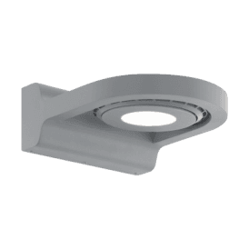 Roales LED Outdoor Wall Fitting In Silver Finish