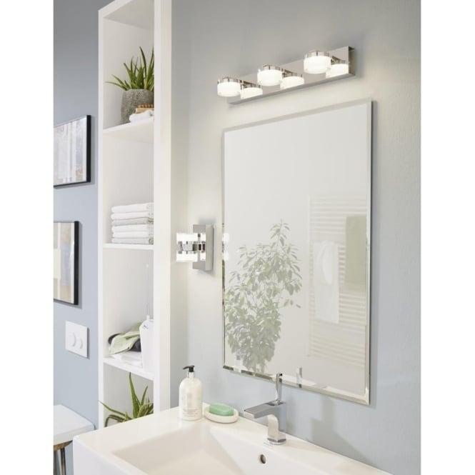 Eglo lighting romendo 3 light led bathroom over mirror wall fitting romendo 3 light led bathroom over mirror wall fitting in polished chrome finish mozeypictures Gallery