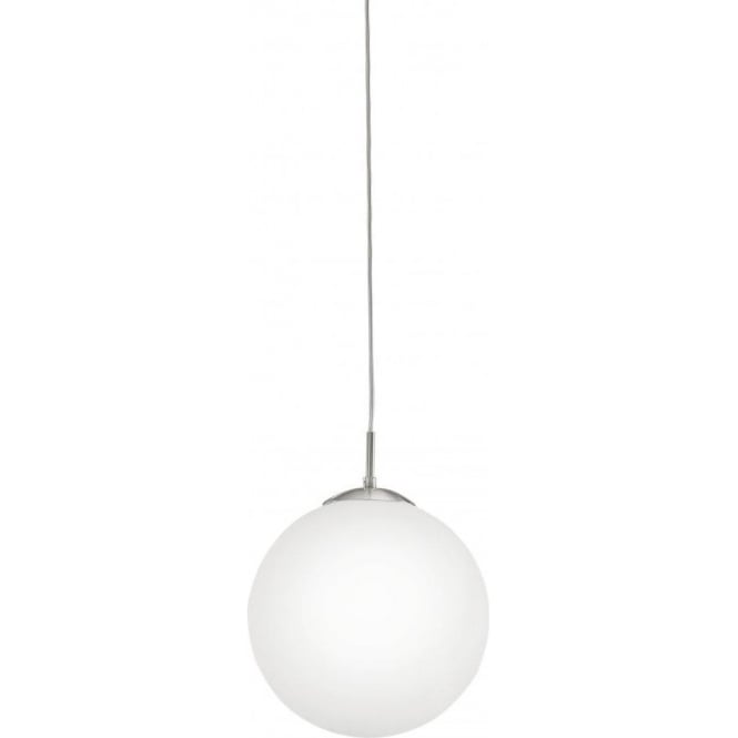 Rondo large opal white glass globe ceiling pendant