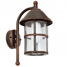 San Telmo Single Light Wall Fitting In Antique Brown Finish