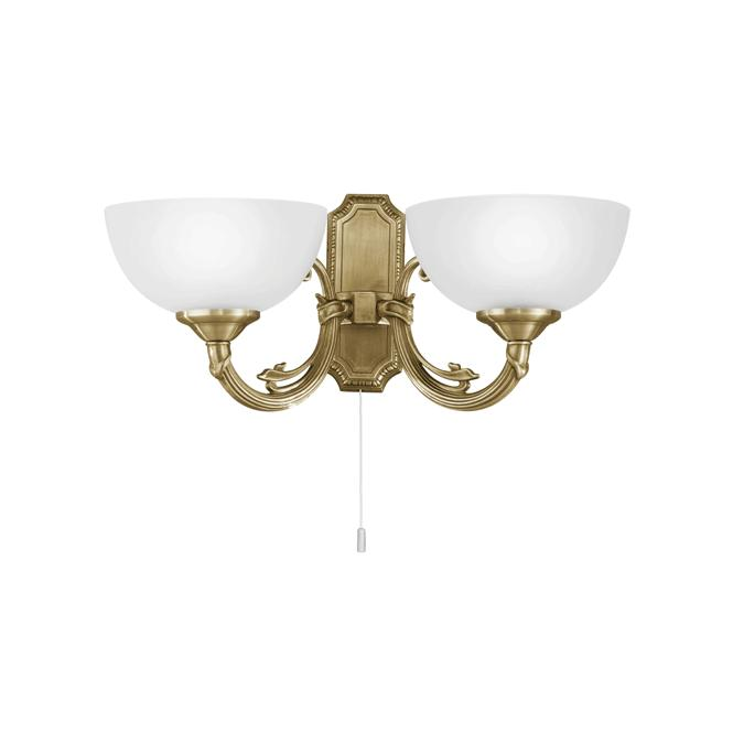 Eglo Lighting Savoy 2 Light Wall Fitting In Bronze Finish With Frosted Glass Shade