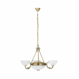 Savoy 5 Light Ceiling Pendant In Bronze Finish With Frosted Glass Shade