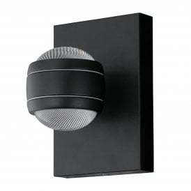 Sesimba LED Outdoor Wall Fitting In Black Finish