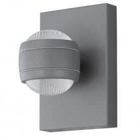 Sesimba LED Outdoor Wall Fitting In Silver Finish