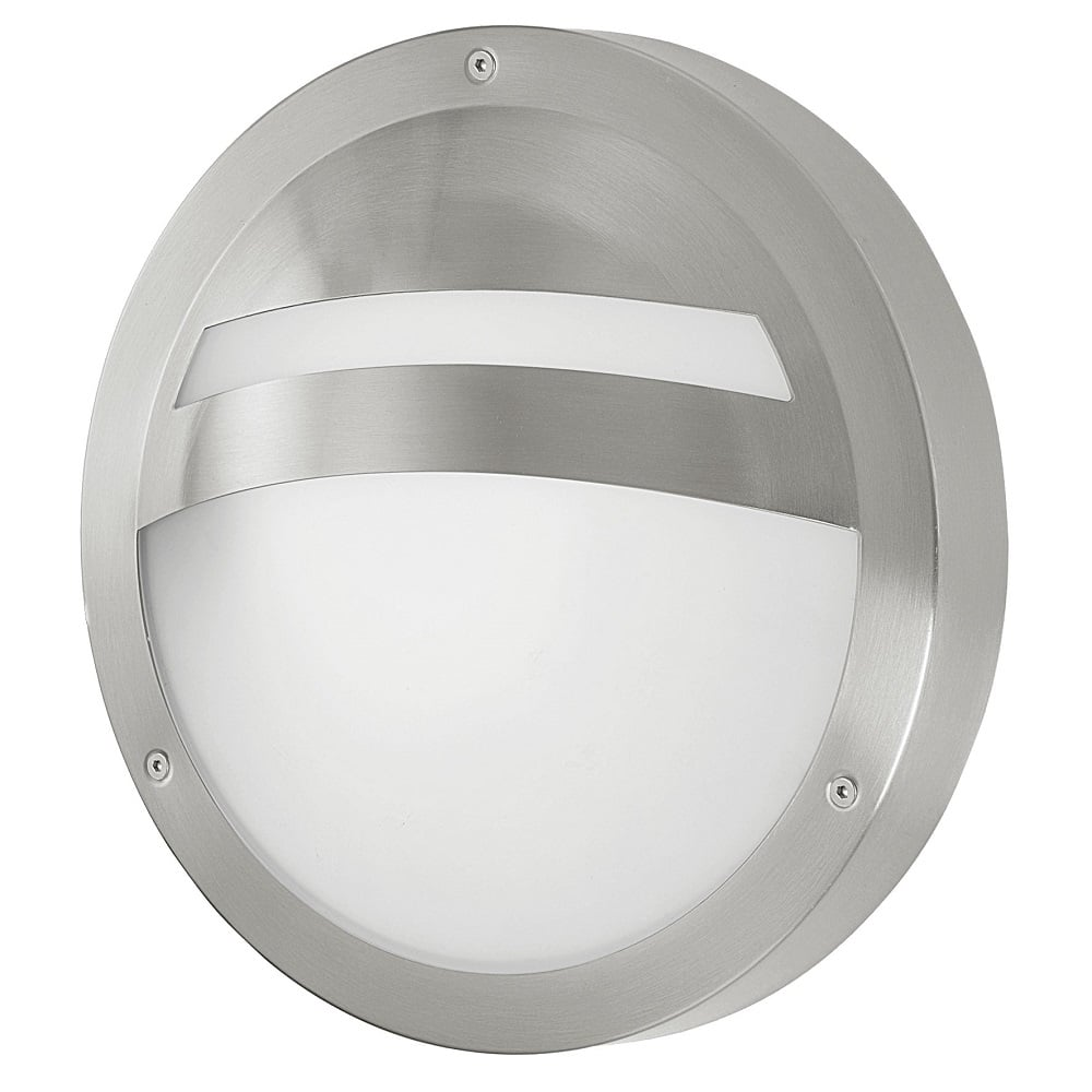 Low Energy External Wall Lights : Eglo Lighting Sevilla Single Light Low Energy Outdoor Wall Fitting In Stainless Steel Finish ...