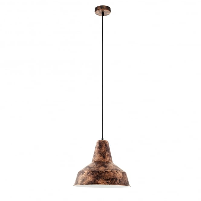 Eglo Lighting Somerton Single Light Ceiling Pendant in Antique Copper Finish