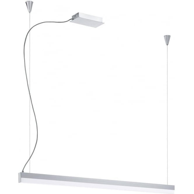 Eglo Lighting Tramp Single Light LED Touch Operated Ceiling Pendant In Chrome Finish With Acrylic Diffuser