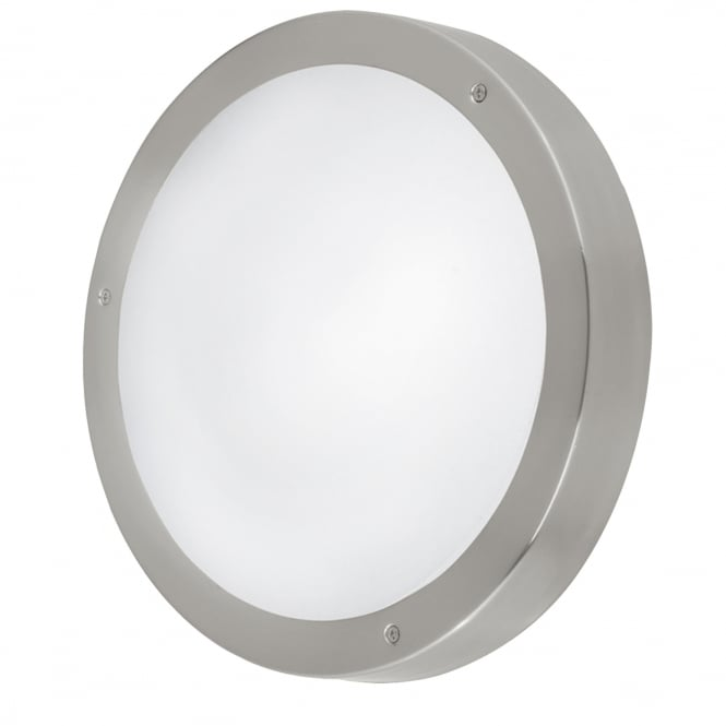 Eglo Lighting Vento 2 Light Outdoor Wall Fitting In Stainless Steel Finish