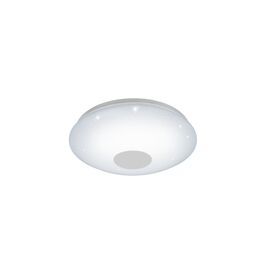 Voltago -C LED Flush Ceiling Fitting In White Acrylic Finish With Crystal Effect