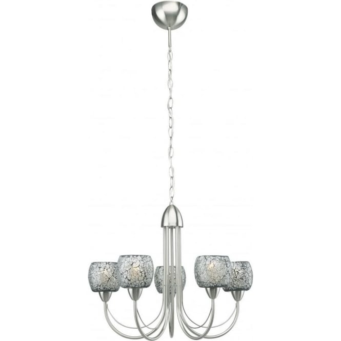 Eglo Lighting Zepto 5 Light Ceiling Pendant in Matt Nickel Finish