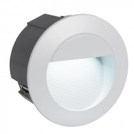 Zimba LED Recessed Outdoor Wall Fitting in Silver Finish