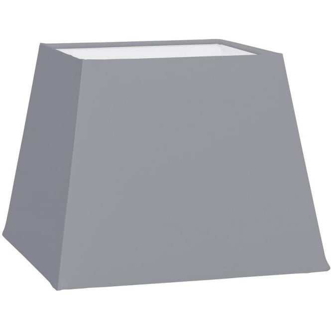 Eglo Vintage 1 + 1 Vintage Square Shade In Anthracite Grey Fabric Finish