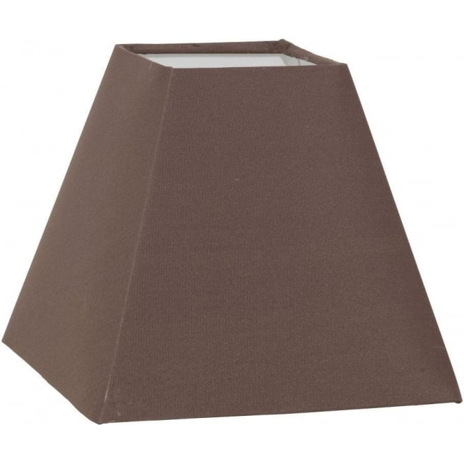 Eglo Vintage 1 + 1 Vintage Tapered Square Shade In Brown Fabric Finish