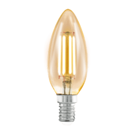11557 4w LED Amber Vintage Warm White SES/E14 Classic Candle Style Bulb