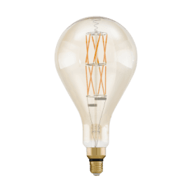 11686 8w LED Extra Large Size Amber Vintage Dimmable Warm White ES/E27 Classic GLS Style Bulb