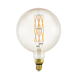 11687 8w LED Extra Large Size Amber Vintage Dimmable Warm White ES/E27 Classic Globe Style Bulb